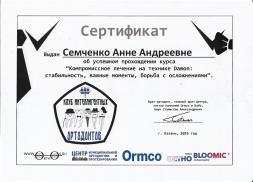 Сертификат Семченко 3